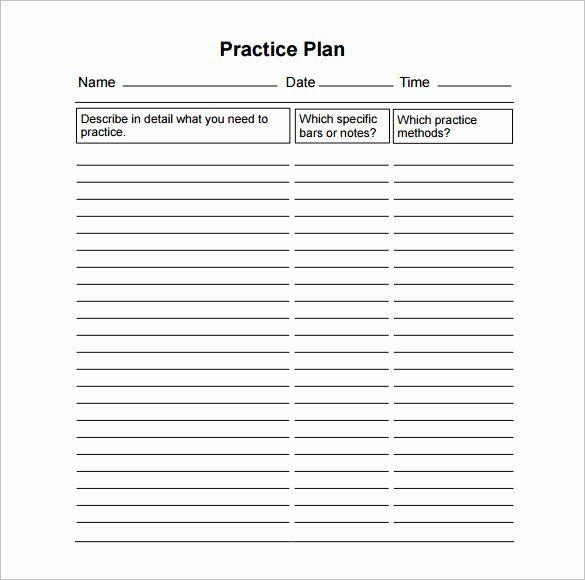 Basketball Practice Plan Template High School Football Practice Schedule Template Best 28