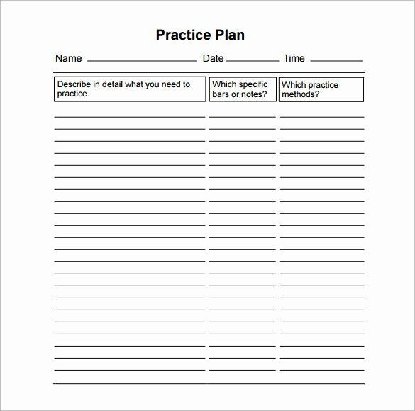 Basketball Practice Plans Template High School Football Practice Schedule Template Best 28