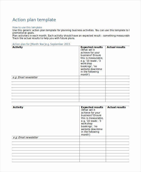 Behavior Action Plan Template 40 Action Plan Template Pdf Action Plan Template Pdf