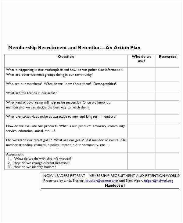 Behavior Action Plan Template Recruitment Action Plan Template Best 54 Action Plan