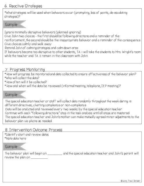Behavior Intervention Plan Template Creating A Behavior Intervention Plan Bip