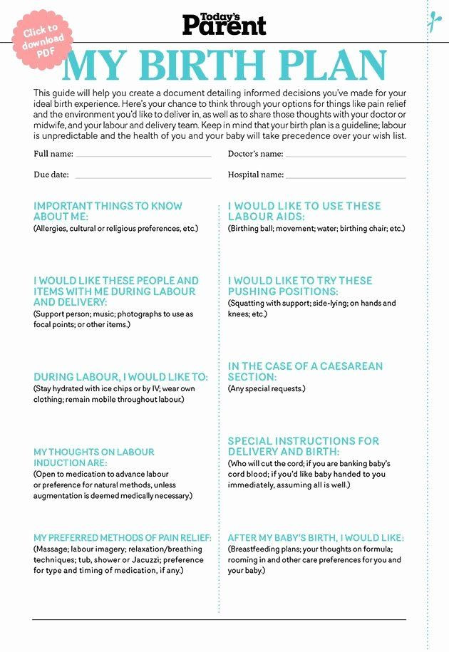 Best Birth Plan Template Birth Plan Template Pdf Beautiful 25 Best Birth Plans