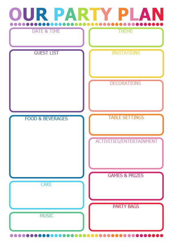 Birthday Party Planner Template How to Plan A Party Printable Planner