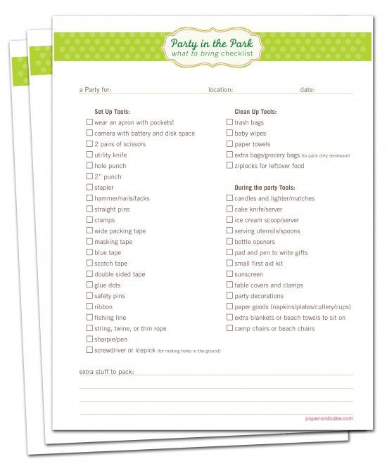 Birthday Party Planner Template Pin On Birthday