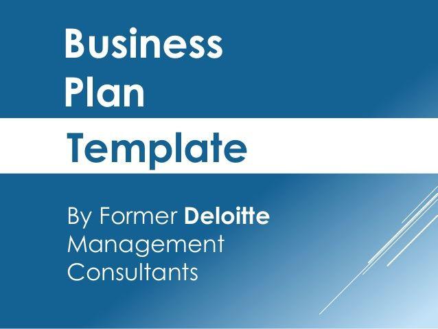 Blog Business Plan Template Business Plan Template by former Deloitte Management