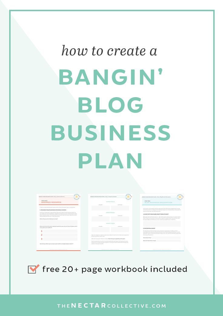 Blog Business Plan Template How to Create A Bangin Blog Business Plan Workbook