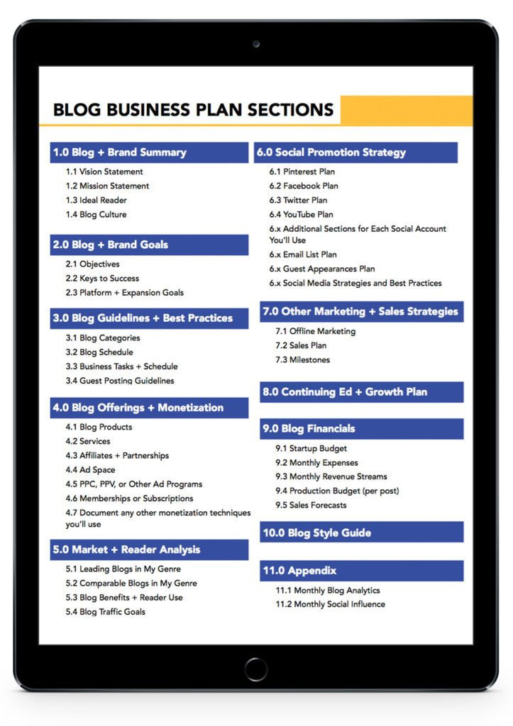 Blog Business Plan Template How to Write A Blog Business Plan the Guide for Champions