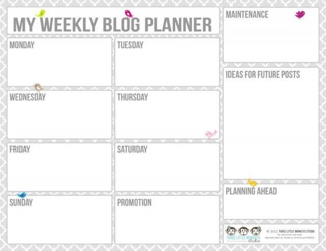 Blog Planner Template 20 Free Printable Blog Planners