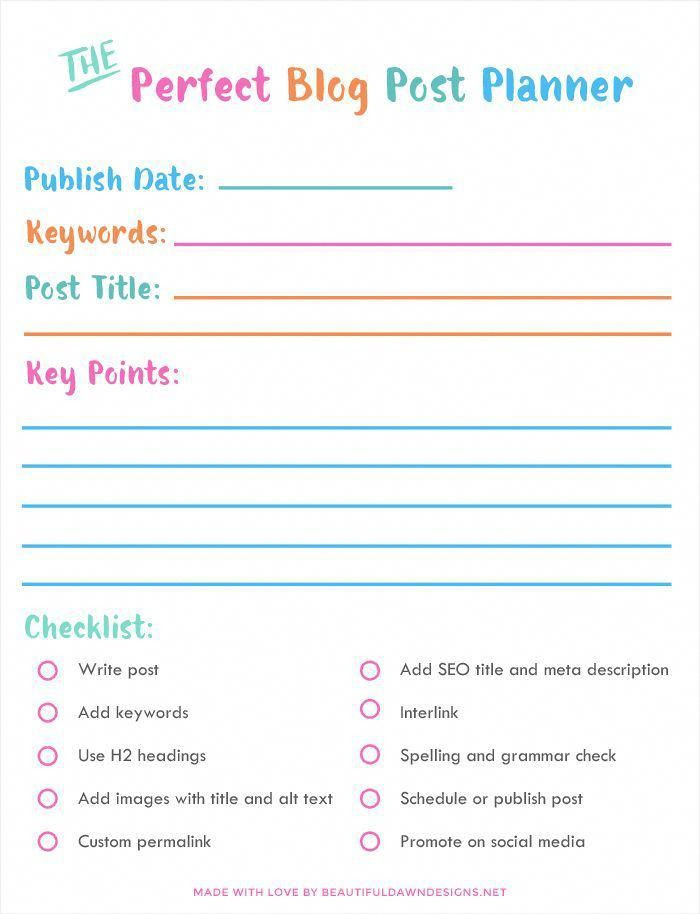 Blog Planner Template Helpful Seo for Beginners Tips This Post Will Show You How
