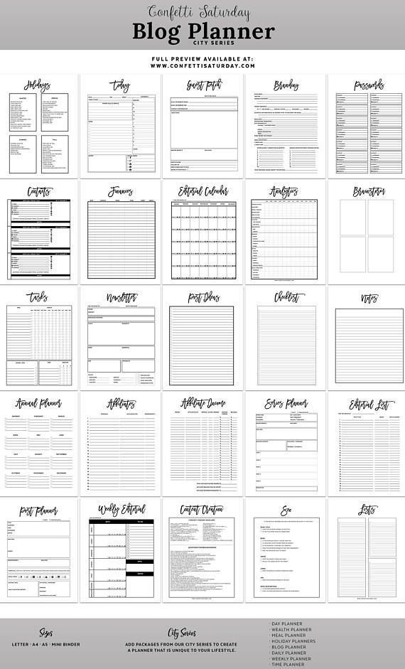 Blog Planner Template Small Businesses Blog Designs Blogger Tips Wordpress Day