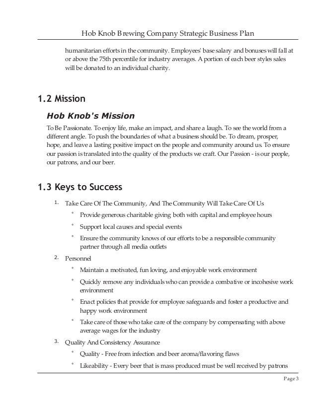 Brewery Business Plan Template Brewery Business Plan Template Lovely Brewery Business Plan