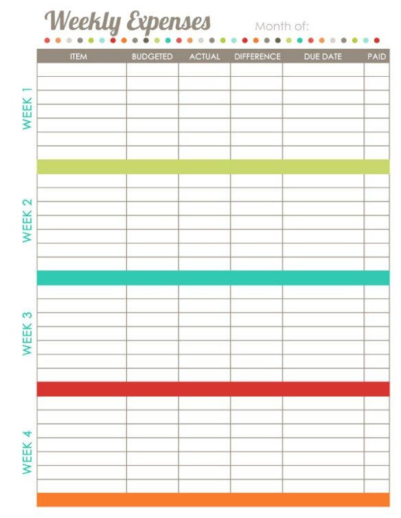 Budget Planner Template Printable 17 Brilliant and Free Monthly Bud Template Printable You
