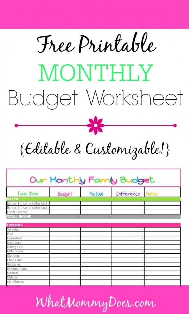Budget Planner Template Printable Cute Monthly Bud Printable – Free Editable Template
