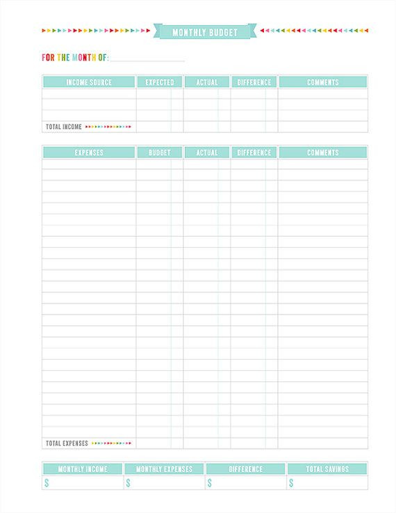 Budget Planner Template Printable Pin by Ioanna S Notebook Lifestyle On 2014 Everyday