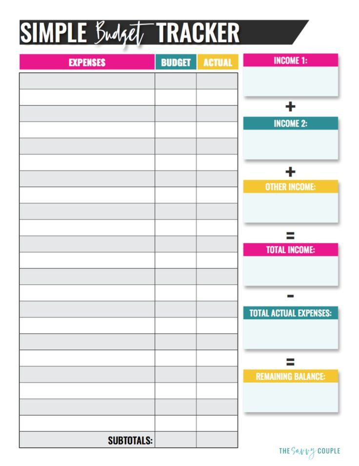 Budget Planner Template Printable Simple Monthly Bud Template Digital Download