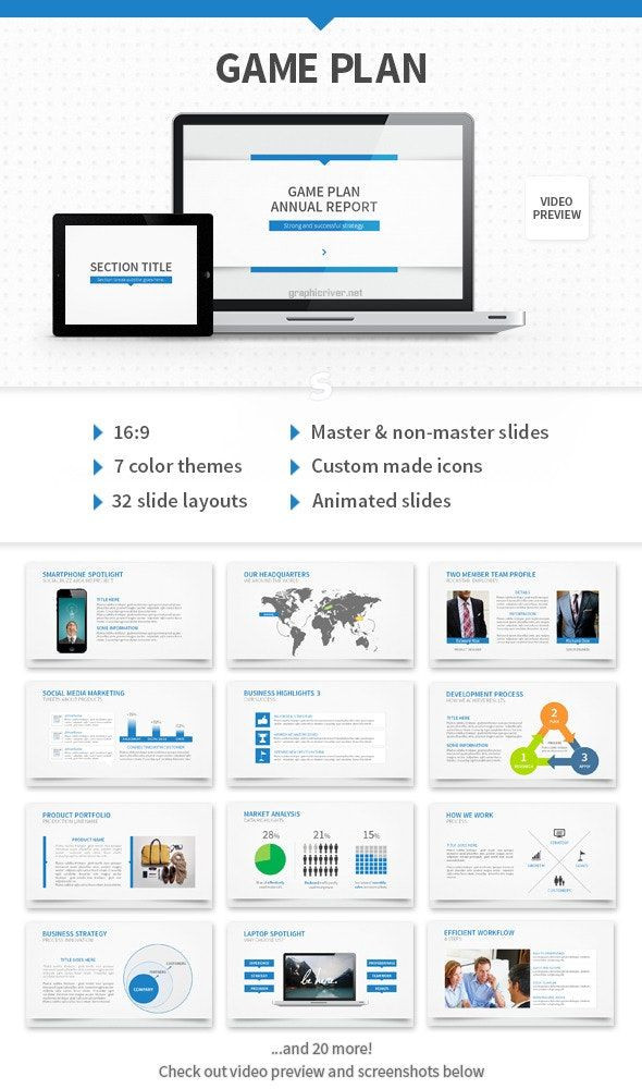 Business Game Plan Template Game Plan Powerpoint Template