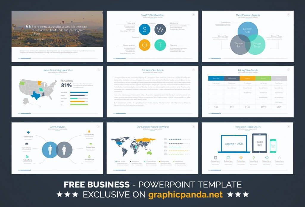 Business Plan Ppt Template Free Free Business Powerpoint Template