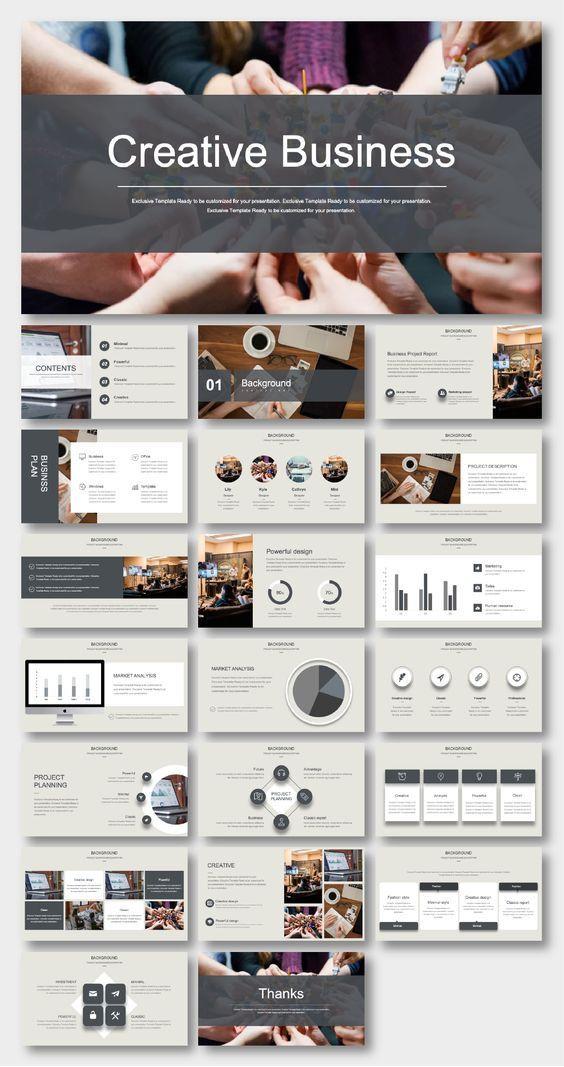 Business Plan Presentation Template Black & White Business Plan Presentation Template – original