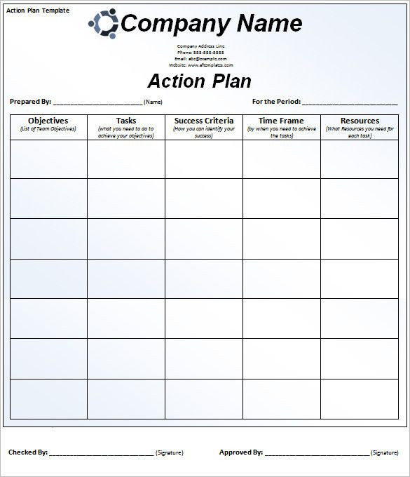 Business Plan Template Excel Action Plan Template Excel Unique 90 Action Plan Templates