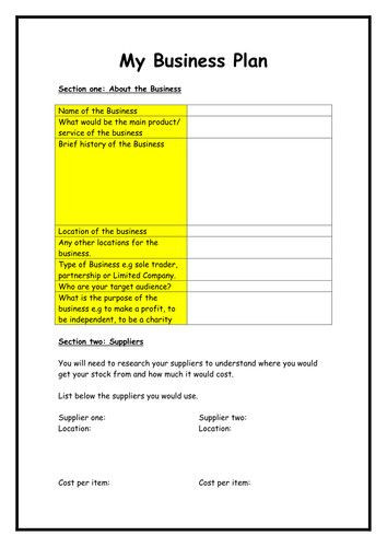 Business Plan Template for Kids Business Plan Template for Kids Elegant Business Plan