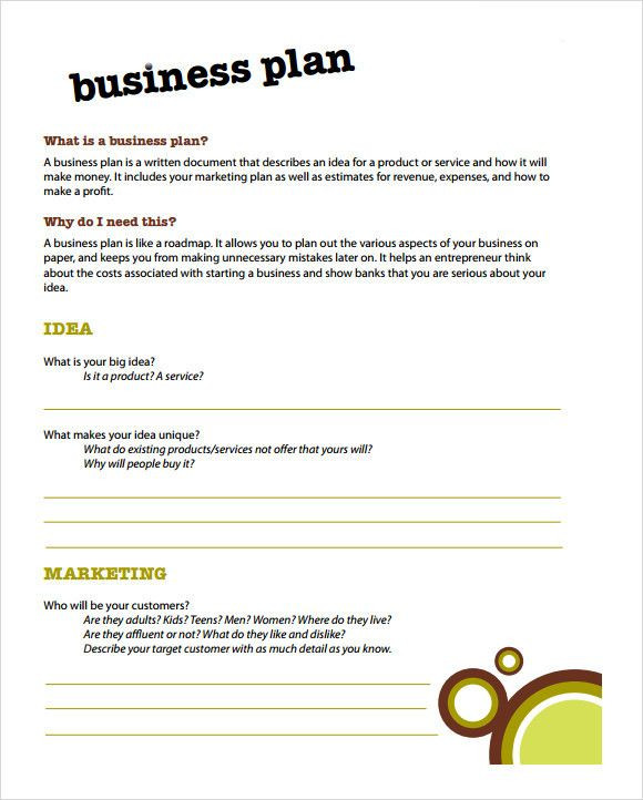 Business Plan Template for Kids Business Plan Template for Kids Fresh Simple Business Plan
