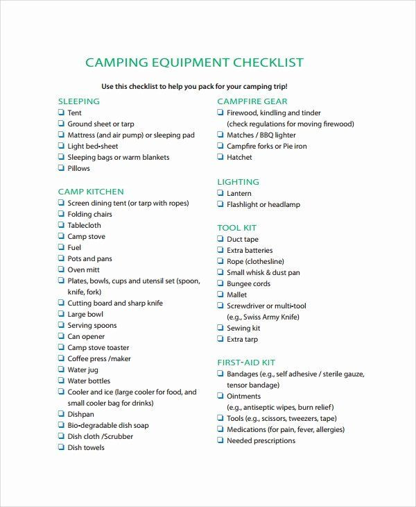 Campground Business Plan Template Campground Business Plan Template Fresh Sample Equipment