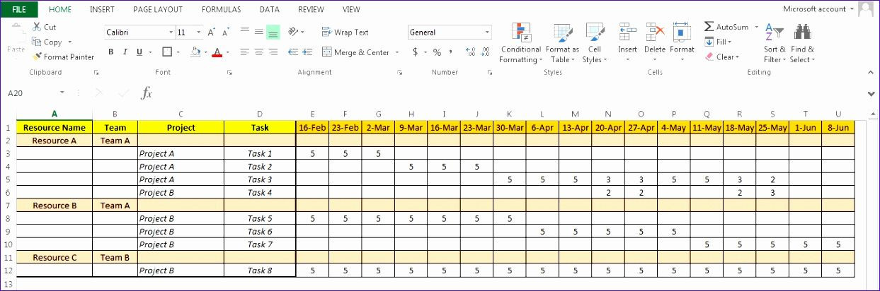 Capacity Planning Template Excel Capacity Planning Template In Excel Spreadsheet