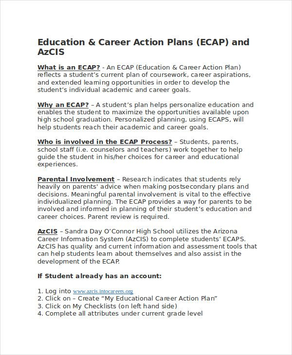 Career Plan Template 15 Free Sample Example format Download