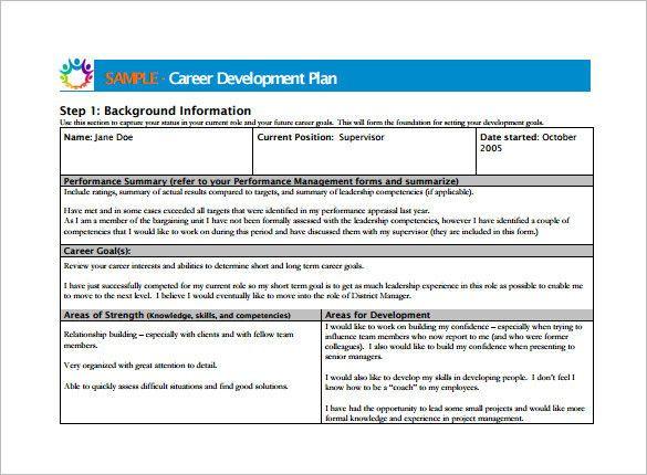 Career Plan Template Career Plan Template Best 10 Career Development Plan