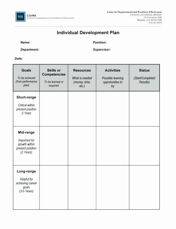 Career Plan Template Performance Goals and Expectations Examples Army Lovely