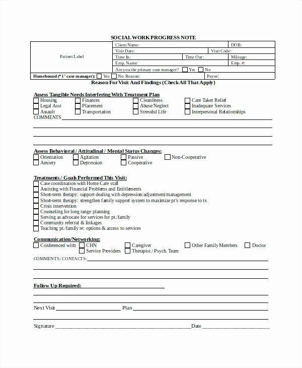 Case Management Care Plan Template Client Notes Template Fresh 15 Progress Note Template