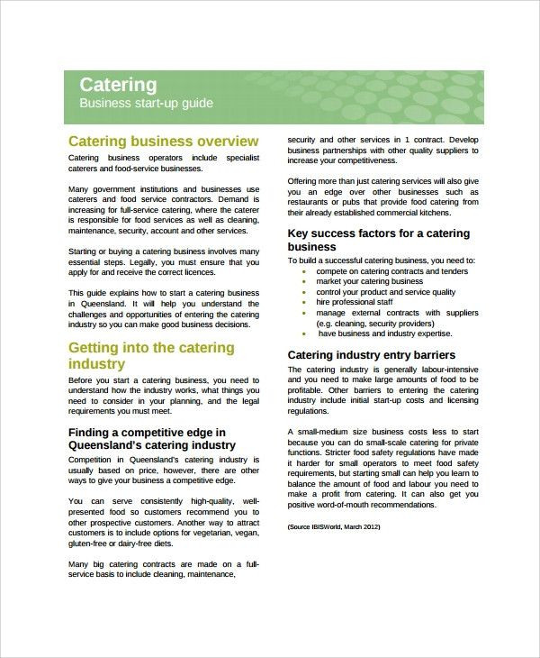 Catering Business Plan Template Catering Business Plan Template Beautiful Sample Catering