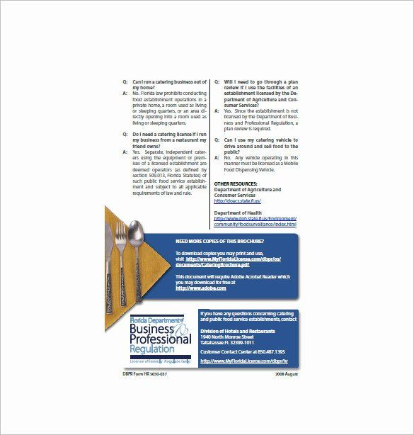 Catering Business Plan Template Catering Business Plan Template Luxury 13 Catering Business