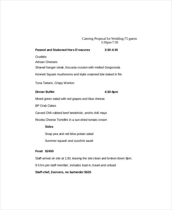 Catering Business Plan Template Catering Proposal Templates 10 Catering Templates