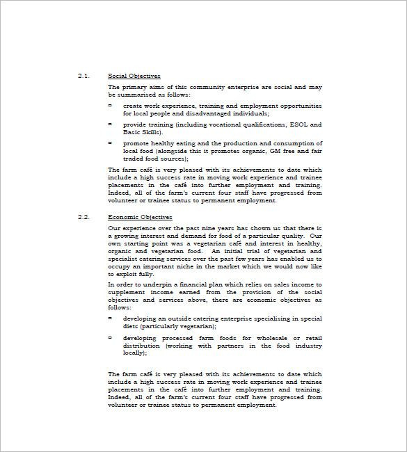 Catering Business Plan Template Template 13 Catering Business Plan Templates Free Sample