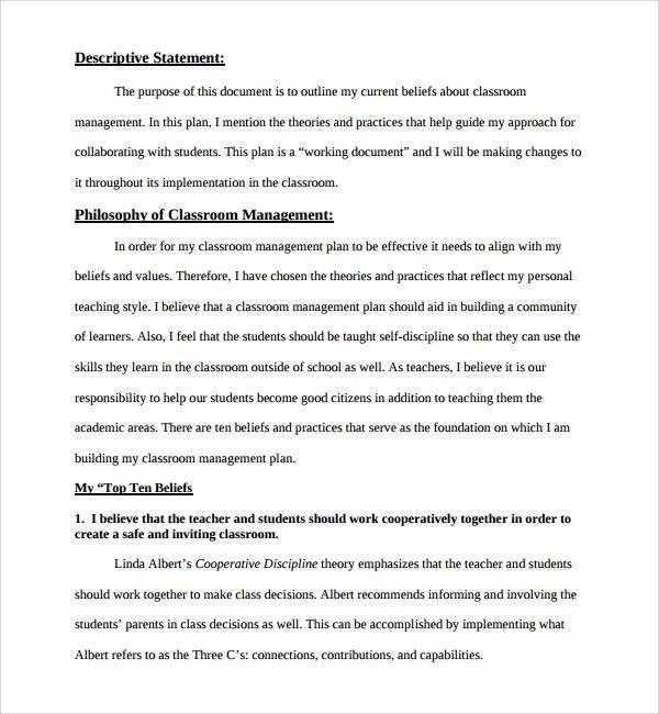 Champs Classroom Management Plan Template Champs Classroom Management Plan Template Awesome Sample