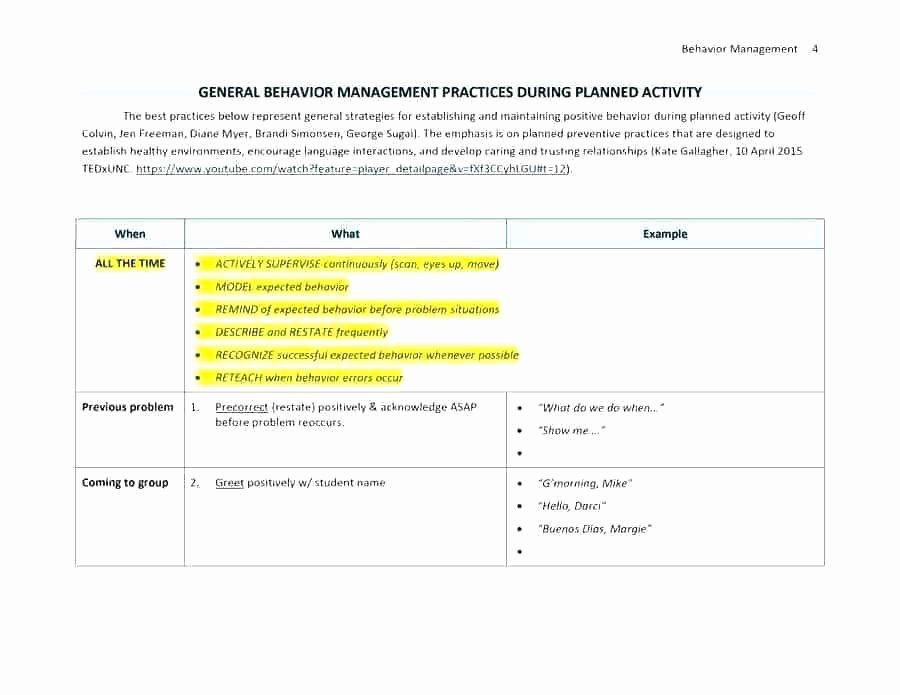 Champs Classroom Management Plan Template Champs Classroom Management Plan Template Inspirational