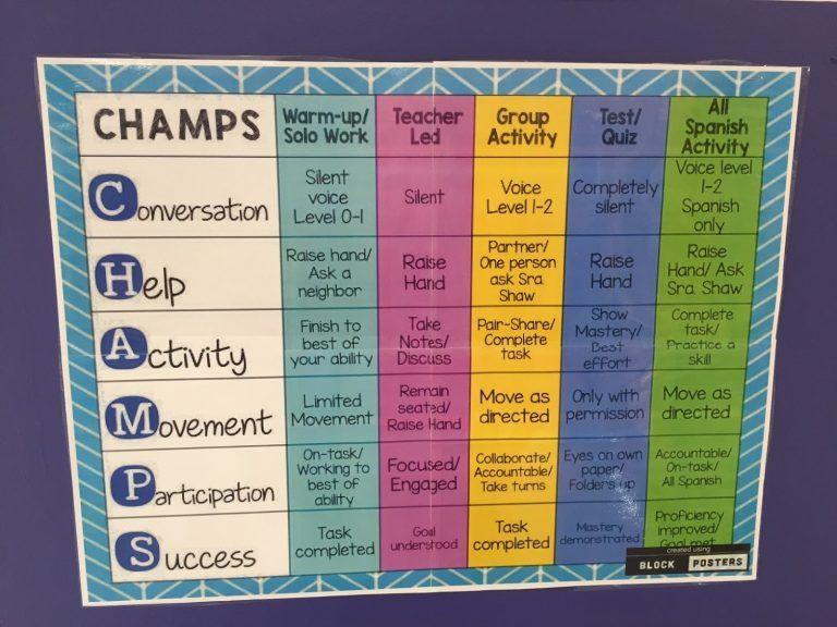 Champs Classroom Management Plan Template Classroom Management Plan Template Lovely Champs Classroom