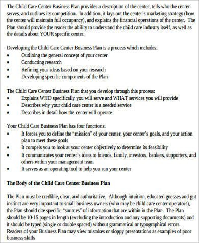 Child Care Business Plan Template Child Care Business Plan Template Fresh Sample Daycare