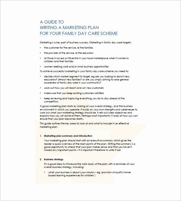 Child Care Business Plan Template Daycare Business Plan Template Free Download Elegant Daycare
