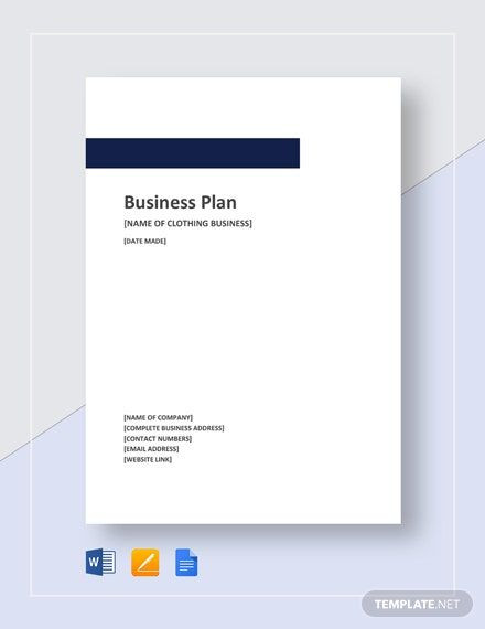 Clothing Business Plan Template Clothing Business Plan Template Word Doc
