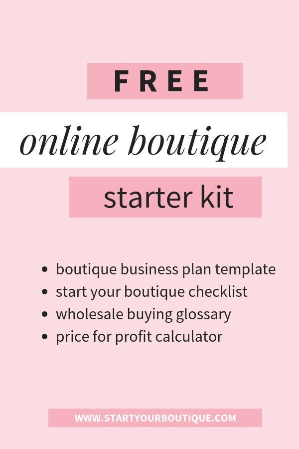 Clothing Business Plan Template Starting An Online Boutique Has Never Been Easier with This