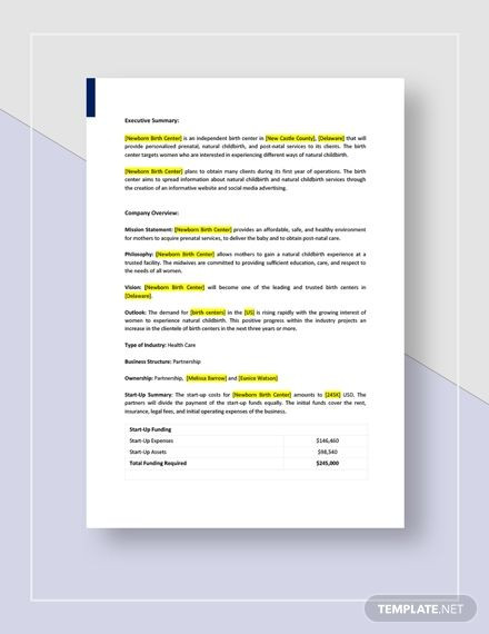 Clothing Line Business Plan Template Birth Center Business Plan Template Ad Paid Center