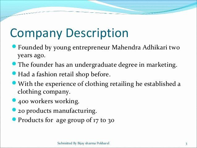 Clothing Line Business Plan Template Clothing Line Business Plan Template Inspirational Line