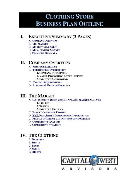 Clothing Line Business Plan Template Download New Clothing Line Business Plan Template Can Save