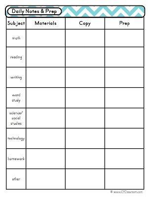 Co Teaching Planning Template Pin On Printables