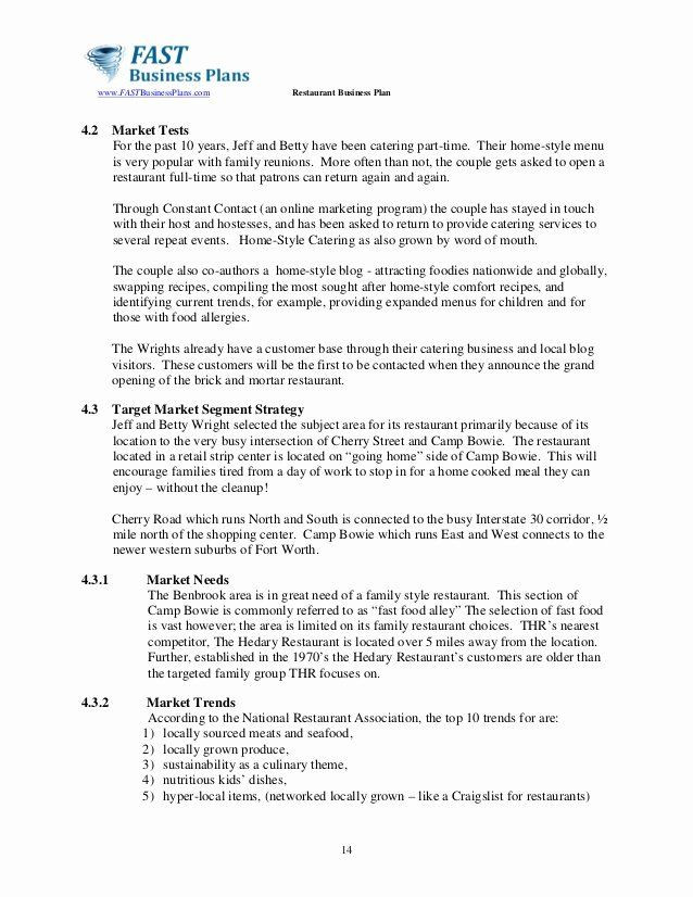 Coffee Shop Business Plan Template Cafe Business Plan Template Elegant Restaurant Business Plan