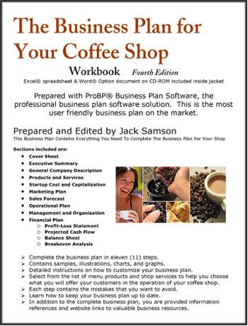 Coffee Shop Business Plan Template the Business Plan for Your Coffee Shop
