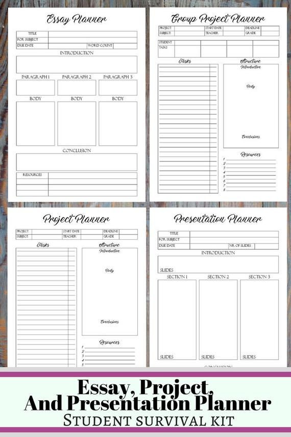 College Student Planner Template College Student Printable Planner Back to School Planner