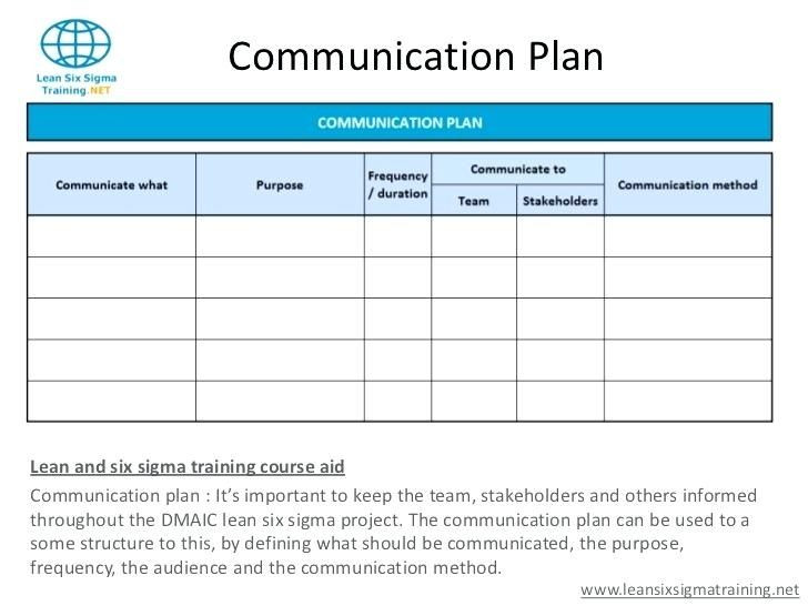 Communication Plan Template Excel Dmaic Project Template Excel Six Performance Potential